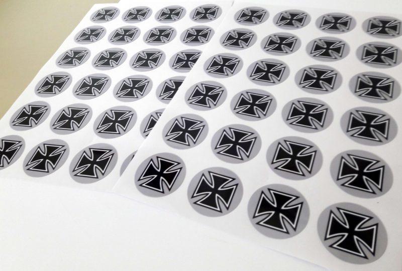 Aufkleber kreisrund Digitaldruck