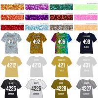 Farbuebersicht_Textilfolien mit Effekt