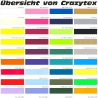 Diese Farben bieten wir Ihnen für Textilmotive an.