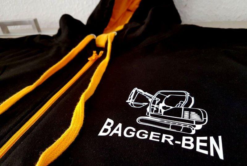 Firmenkleidung für unseren Kunden Bagger-Ben