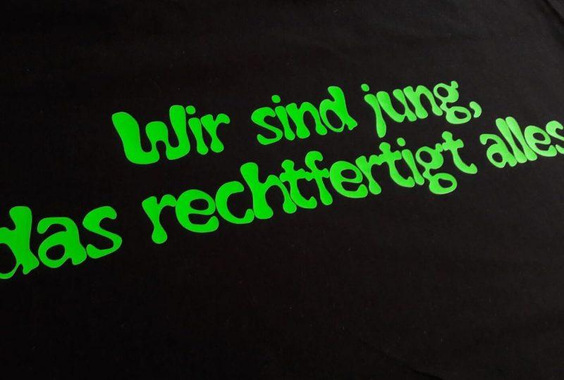 Wunschtext in Neongrün